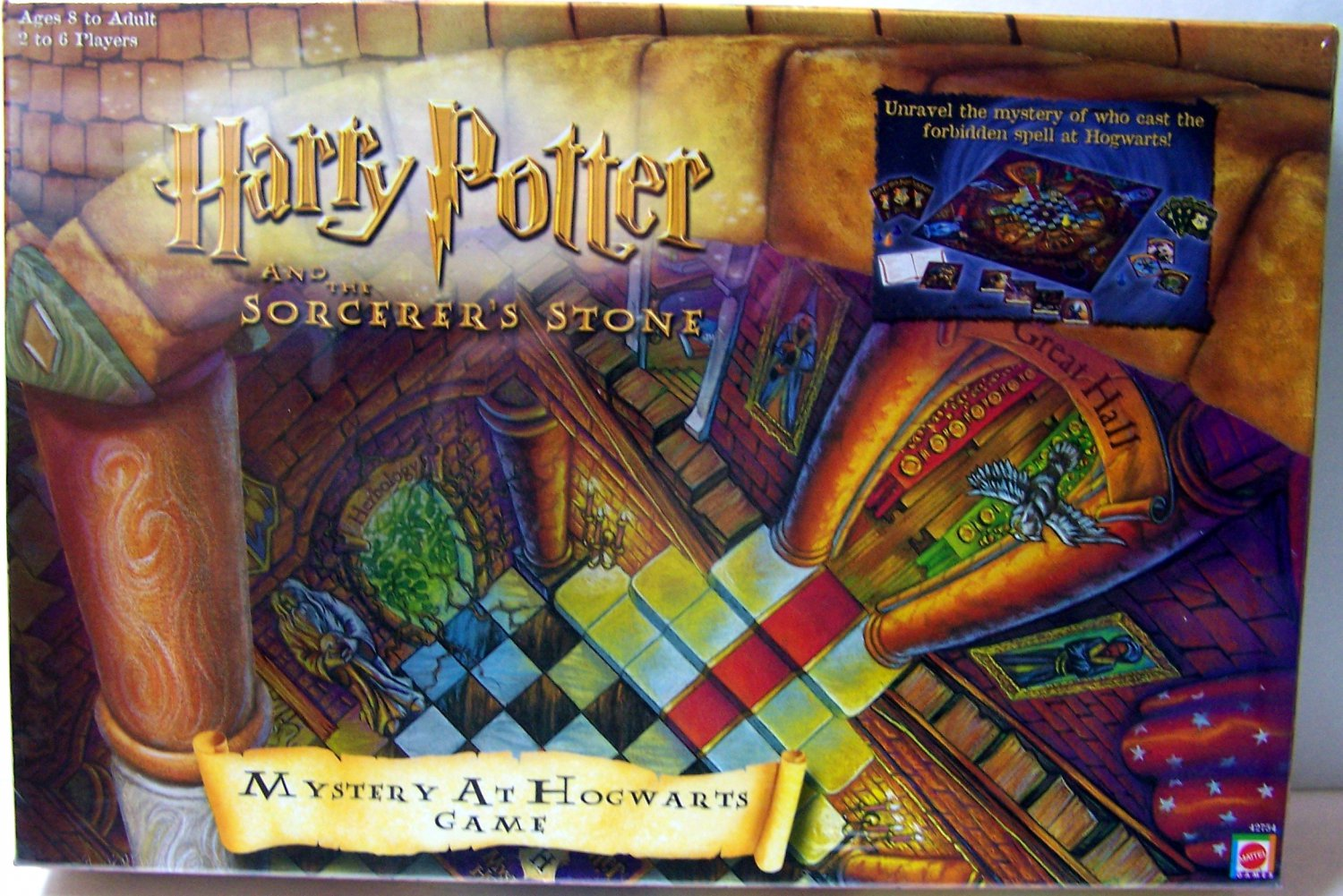 Mattel 2000 HARRY POTTER And The Sorcerer's Stone MYSTERY AT HOGWARTS 1st Game