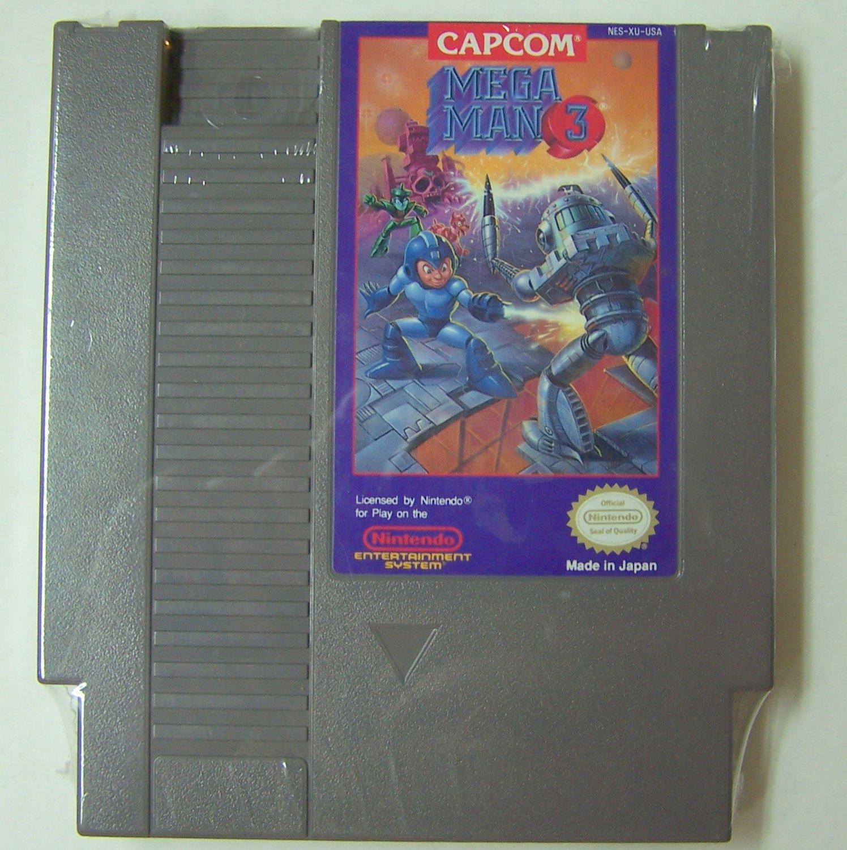 Mega Man 3 Original 8-bit Nintendo NES Game Cartridge