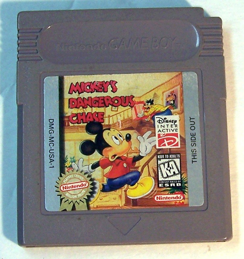 Mickey's Dangerous Chase ~ Nintendo Game Boy ~ With Storage Case