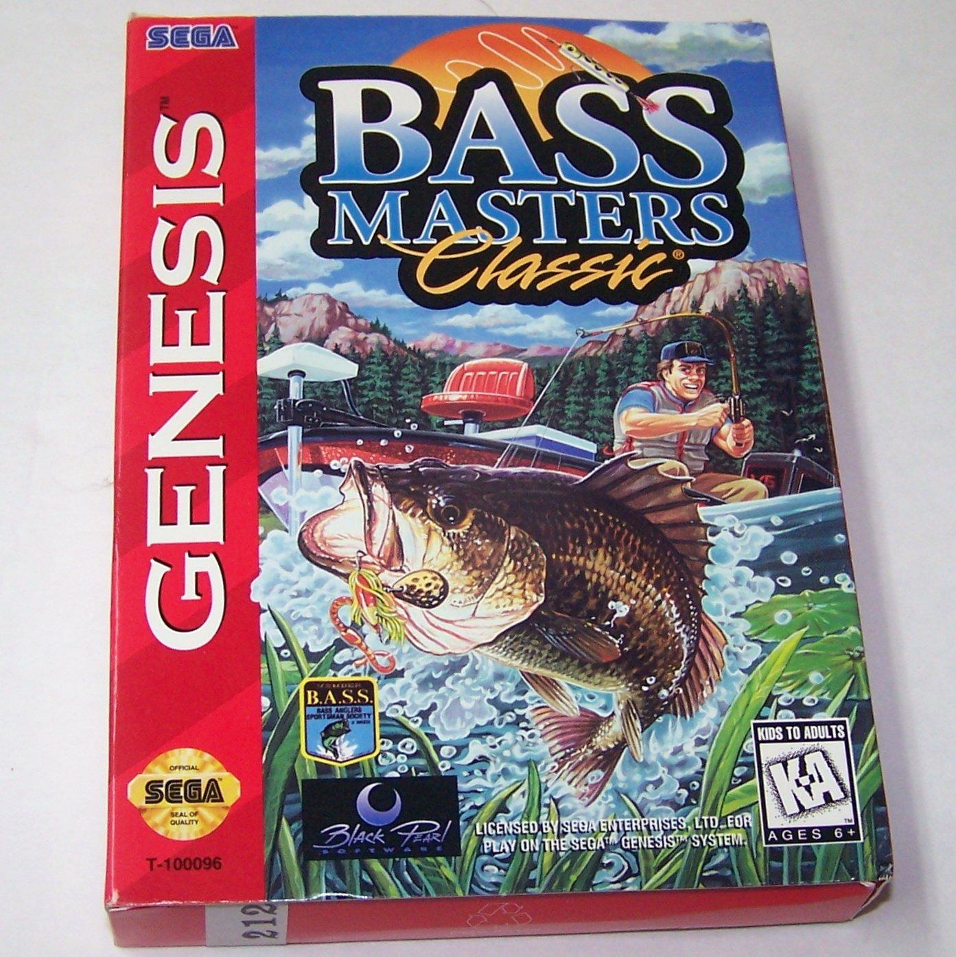 BASS MASTERS CLASSIC Sega Genesis Game Complete