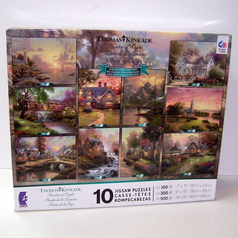 Thomas Kinkade Painter of LIght 10 Jigsaw Puzzles Collector's Edition