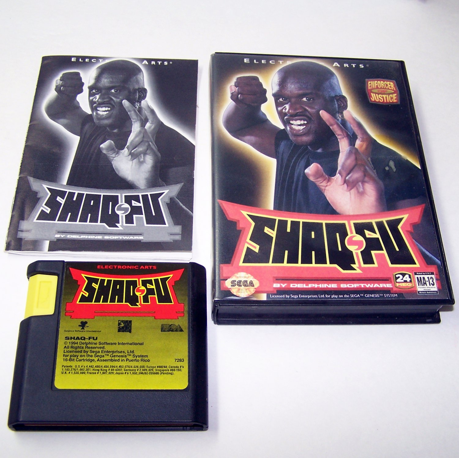 Shuq Fu Enforcer of Justice Sega Genesis Game Complete