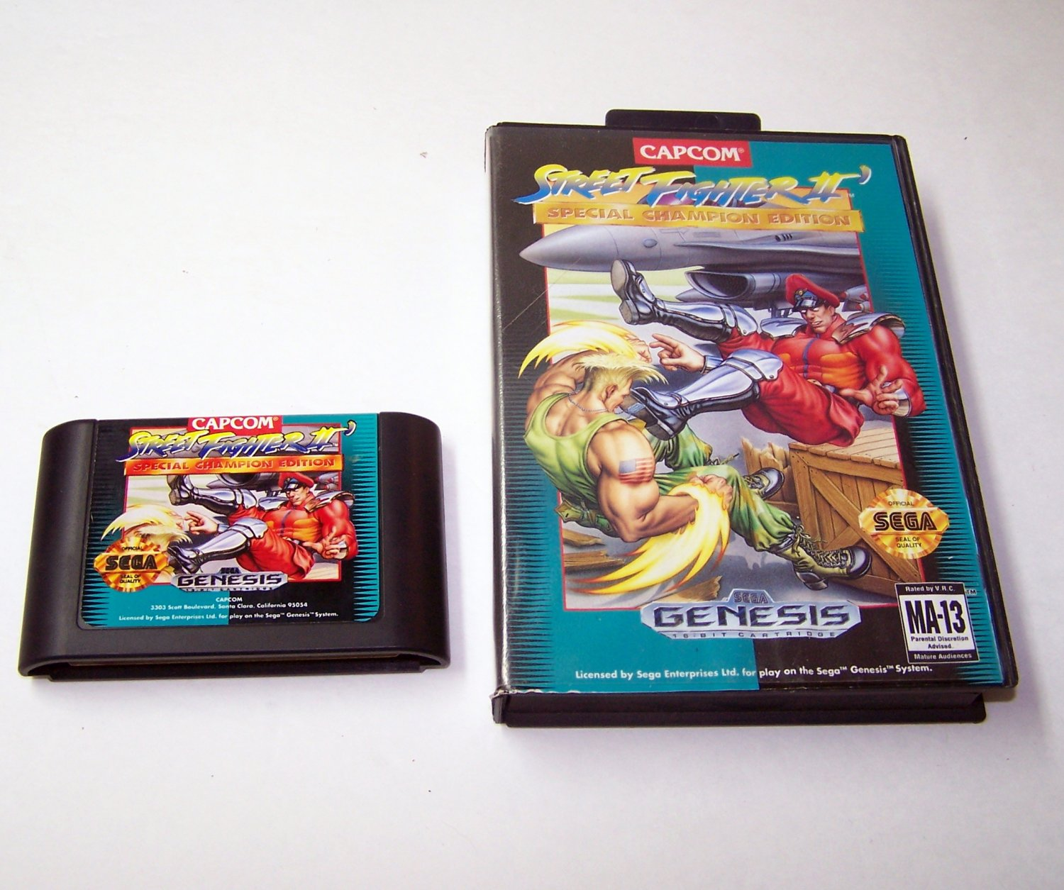 Street Fighter II Special Champion Edition  Sega Genesis Game