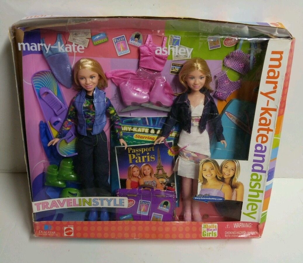 MARY KATE and ASHLEY Olsen - TRAVEL IN STYLE Passport to Paris - MATTEL - 2001