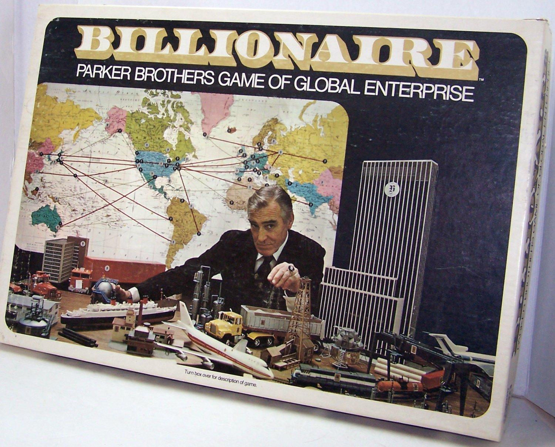 Billionaire Parker Brothers Game of Global Enterprise 1973