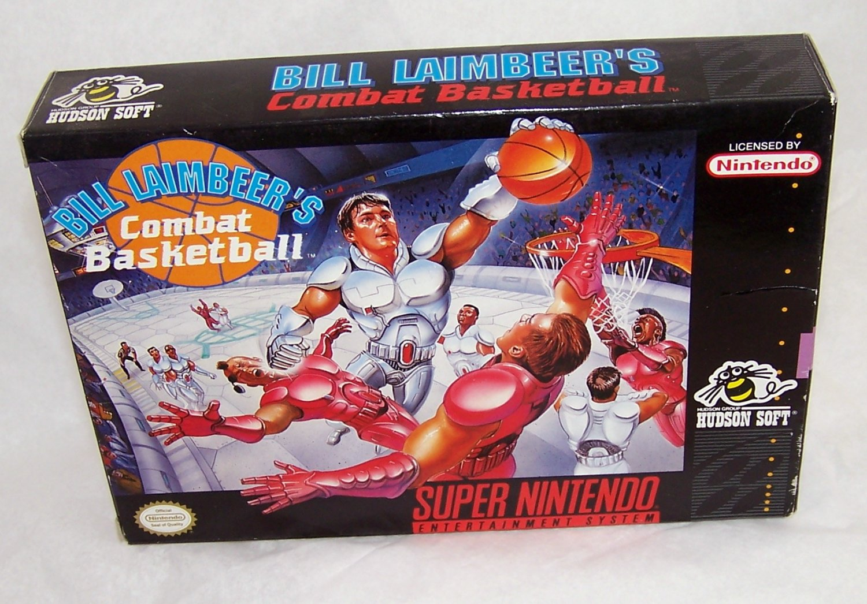 Bill Laimbeer's combat basketball Super Nintendo Game