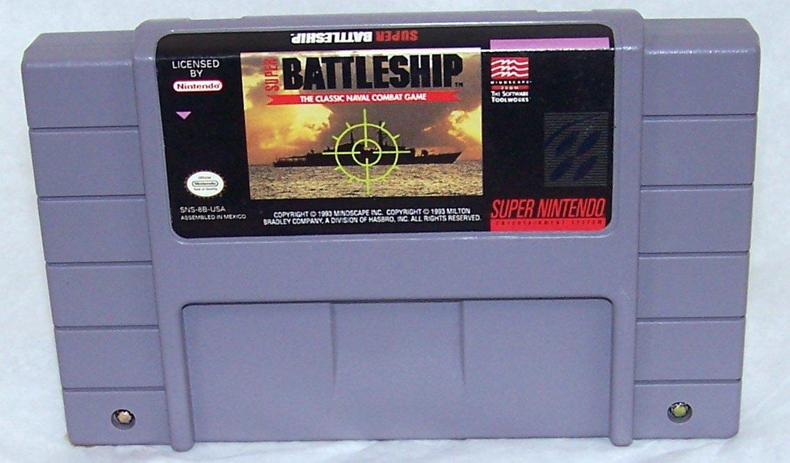 Super Battleship  Super Nintendo Game Cartridge