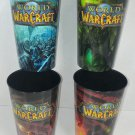 Blizzard Entertainment World of Warcraft WoW Set 4 Plastic Cups 32 Oz Collectors