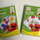 Sesame Street Snap! with Elmo & Friends + Go Fish With Elmo & Dorothy Card Games