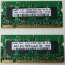 2 Samsung Laptop Memory M470T6554EZ3-CE6 0724 512MB 2Rx16 PC2-5300S-555-12-A3