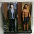 2 New BARBIE Dolls TWILIGHT SAGA - EDWARD and JACOB COLLECTIBLE - Factory Sealed