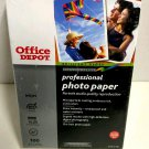 "Office Depot Brilliant Gloss Professional Photo Paper 4x6"" 100 Count New Sealed"