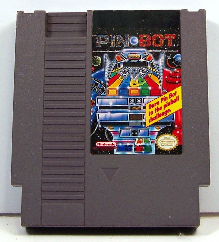 Pin Bot ~ Original 8-bit Nintendo NES Game Cartridge