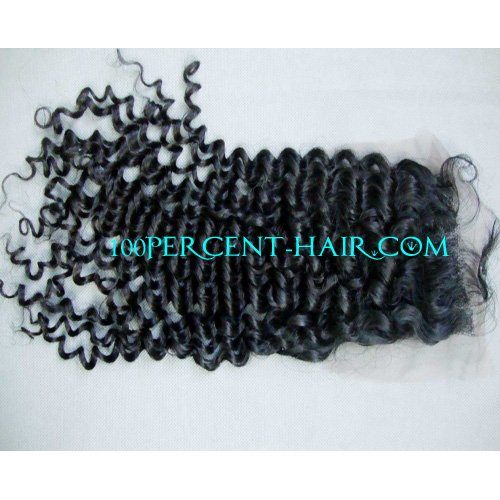 Swiss Lace Top closure brazilian virgin hair curly