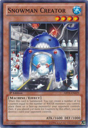 Yugioh Card  Snowman Creator - ABYR-EN029 - Common 1st Edition