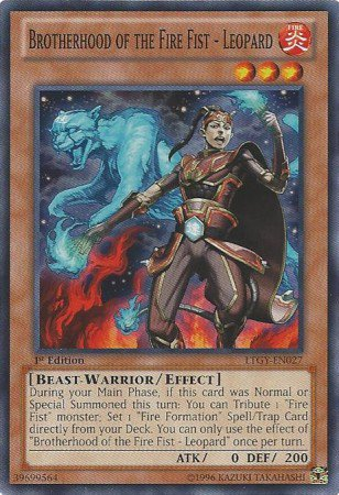 Yugioh Card Brotherhood of the Fire Fist - Leopard - LTGY-EN027 - Common 1st Edition