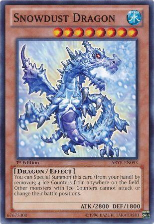 Yugioh Card Snowdust Dragon ABYR-EN093 1st Edition