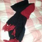 Black And Red Winter Knit Scarf