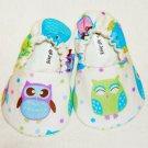 Baby Booties - Owl - (0-3 mo)