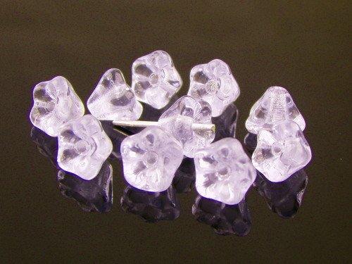 50 Pcs Czech Glass Bead Baby Bell Flower 6x4mm,Alexandrite