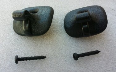 Pair (2) Sebring Convertible Sunvisor Clips 1996-2006 with screws