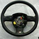 07-08 Audi S6 A6 Quattro Steering Wheel Black OEM 4F0-419-091-AF-VMJ
