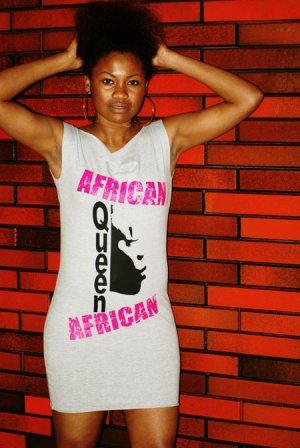 African Queen Tunic (Grey)