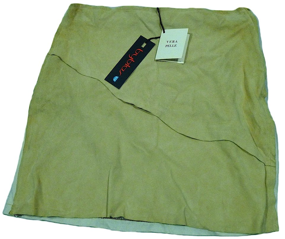 BYBLOS LEATHER GIRL SKIRT SIZE 14 YEARS ITALY NEW