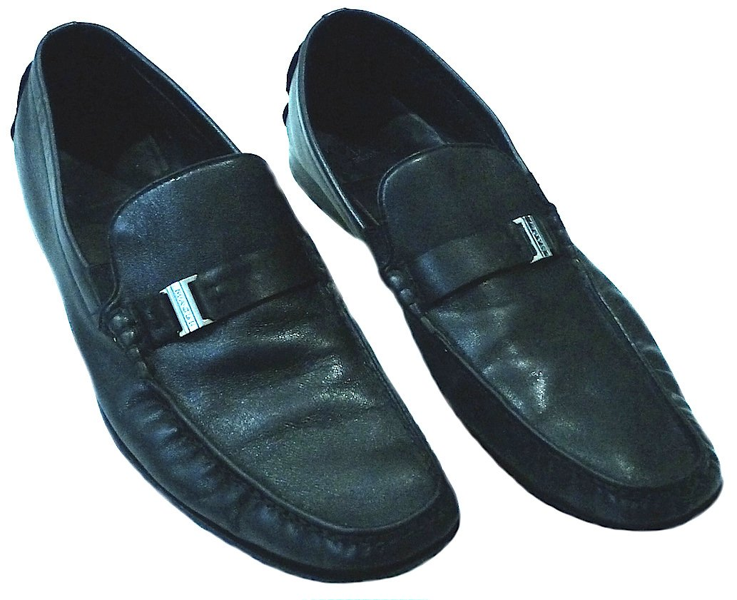 MAGLI BY BRUNO MAGLI MO2964 DAVEE MENS LOAFERS SHOES 10.5 BLACK PRE-OWNED AUTHENTIC