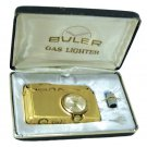 Vintage Buler Gas Lighter With Clock Mechanical 17 Jewels Swiss NOS