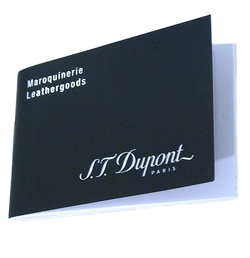S.T. Dupont Leather Goods Service Centres Booklet Autehntic