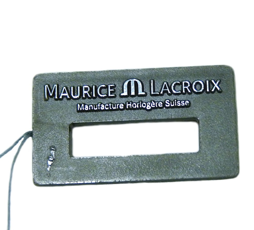 MAURICE LACROIX WATCH PLASTIC HANG TAG PRE-OWNED