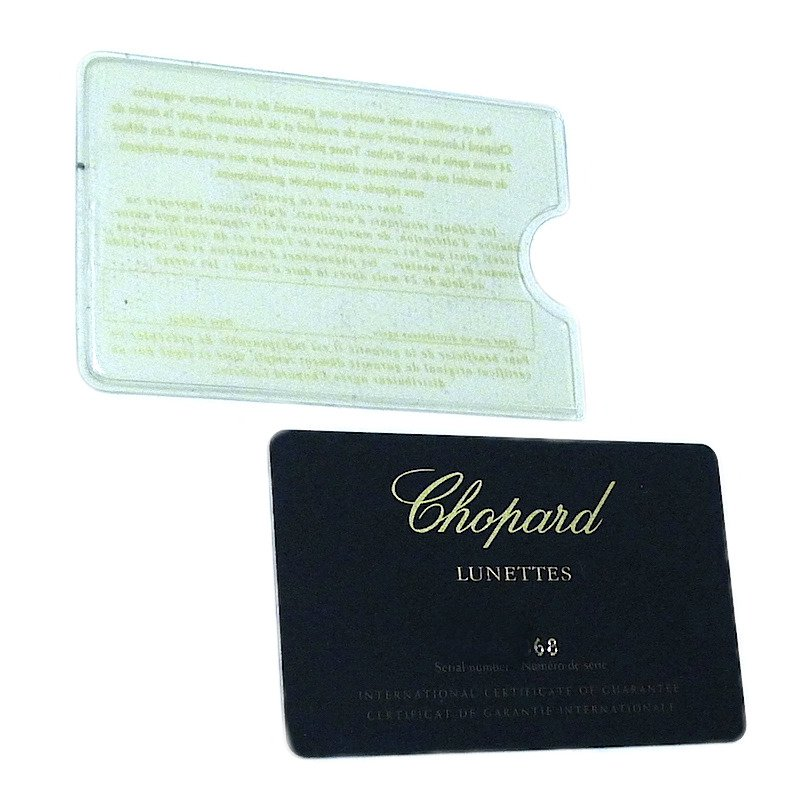 Chopard Lunettes Sunglasses Guarantee Plastic Card Authentic