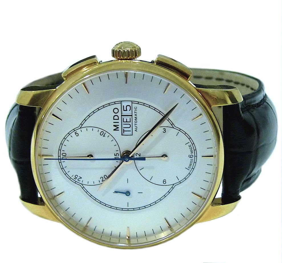 Mido Baroncelli Chronograph Automatic Day Date Mens Watch M8607.3.10.4