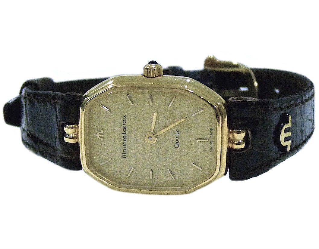 Maurice Lacroix Classic 18K Yellow Gold Ladies Watch NOS