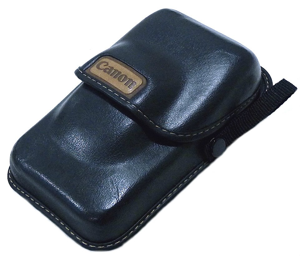 CANON LEATHER COMPACT CAMERA CASE JAPAN UNUSED