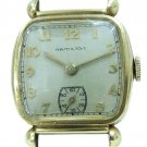 VINTAGE HAMILTON 987A MECHANICAL 10K GOLD FILLED SQUARE CASE FANCY LUGS WATCH