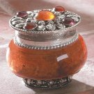 SANDELWOOD JEWELED-LID JAR CANDLE