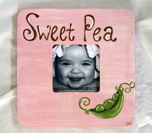 """sweet pea"" frame"