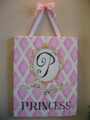 """Princess"" canvas"