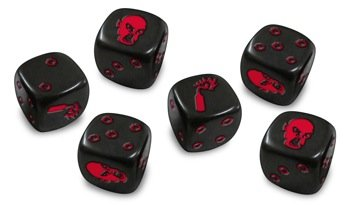 Zombicide: Dice - Black (Blister Only)