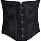 Men's Black Pinstriped Corset