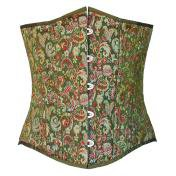 Green Brocade Steampunk Corset