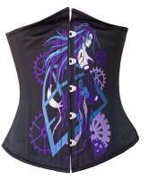 Dark Purple Gears Anime Corset