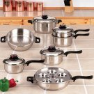 World's Finest™ 7-Ply Steam Control™ 17pc Surgical Stainless Steel Cookware Set - KT17ULTRA