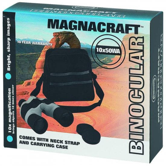 Magnacraft® 10x50 Black and Gray Binoculars with Case - SPB10505