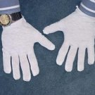 12 PAIRS WHITE 100% COTTON GLOVES INDUSTRIAL WORK NIGHT MOISTURISING JEWELRY