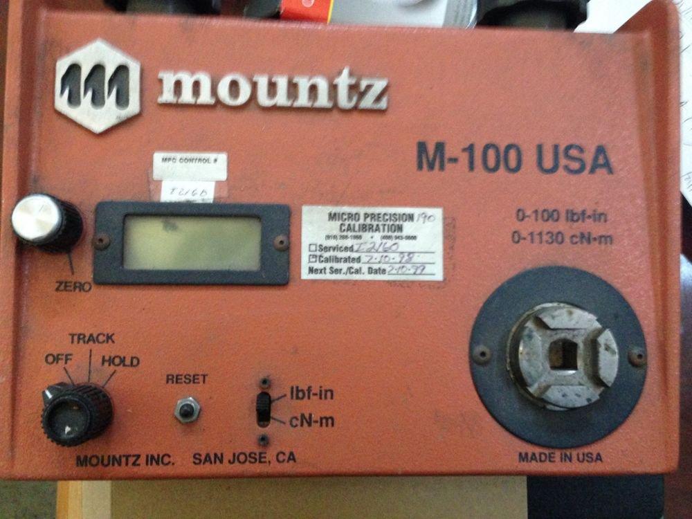 Mountz Torque Tester M-100 M100 Wrench 3/8 0-100 lb ft-in 0-1130 CN-M USA LBF/IN