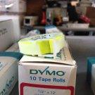 "10 Pack Dymo 1/2"" x 12' NEON YELLOW Embossing Tape Label Magazine Maker Printer"