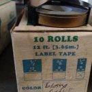 "10 ROLLS 3/8"" x 12' GLOSSY GOLD Embossing Tape Label Magazine Maker Printer DYMO"